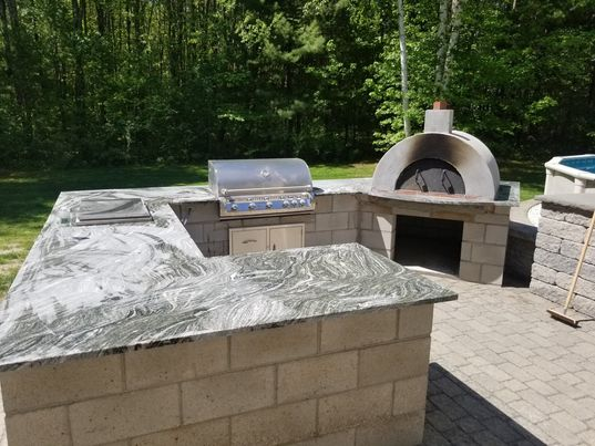 Stone Surface Granite Outdoor Grill