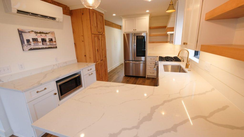 Stone Surface Quartz Kitchen and Cabinets 2