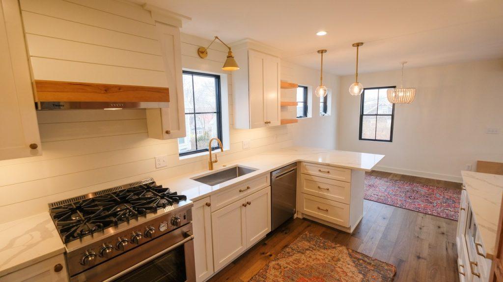 Stone Surface Quartz Kitchen and Cabinets 3